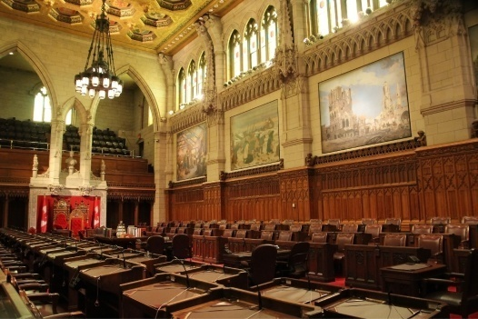 Picture of Canadian governmental legislature room
